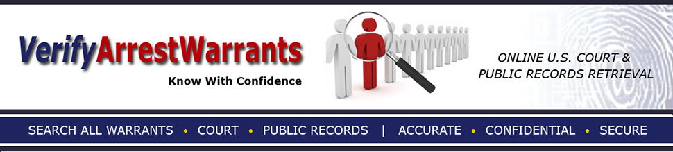 VerifyArrestWarrants com | Active Warrants