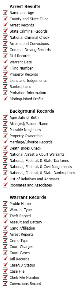 outstanding bench warrant background check